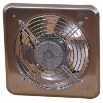 KANLUX C200 | Kanlux industrijski ventilator Ø210 470m3/h četvrtast IP24 UV inox
