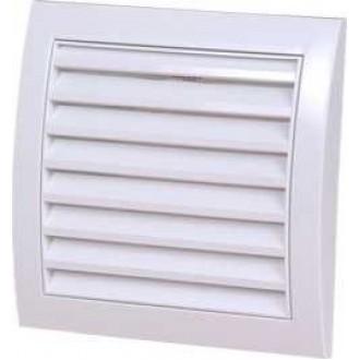 KANLUX ND12 | Kanlux ventilacijska rešetka Ø120 za kanalni ventilator četvrtast mreža za zaštitu od insekata UV bijelo