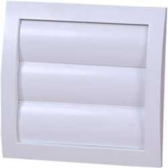 KANLUX ND12Z | Kanlux gravitacione žaluzine Ø120 za kanalni ventilator četvrtast mreža za zaštitu od insekata UV bijelo