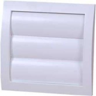 KANLUX ND15Z | Kanlux gravitacione žaluzine Ø150 za kanalni ventilator četvrtast mreža za zaštitu od insekata UV bijelo