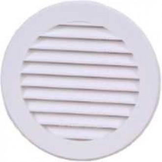 KANLUX VR100 | Kanlux ventilacijska rešetka Ø100 za kanalni ventilator okrugli mreža za zaštitu od insekata UV bijelo