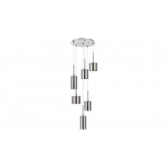 LAMPADORO 81014 | Adriana_LD Lampadoro visilice svjetiljka 6x E14 krom, dim