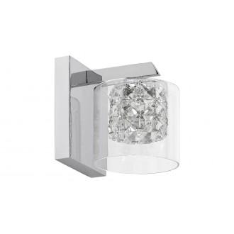 LAMPADORO 81015 | Diamante_LD Lampadoro zidna svjetiljka 1x G9 krom, prozirno, kristal