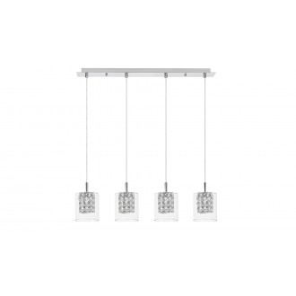 LAMPADORO 81017 | Diamante_LD Lampadoro visilice svjetiljka 4x G9 krom, prozirno, kristal