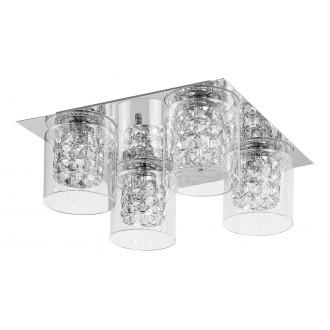 LAMPADORO 81019 | Diamante_LD Lampadoro stropne svjetiljke svjetiljka 4x G9 krom, prozirno, kristal