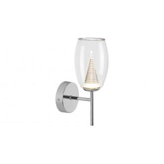 LAMPADORO 81021   Fiorella Lampadoro zidna svjetiljka 1x LED 400lm 3000K krom, prozirno