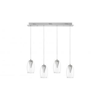 LAMPADORO 81023 | Fiorella Lampadoro visilice svjetiljka 1x LED 1600lm 3000K krom, prozirno