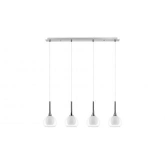LAMPADORO 81027 | Carmelina Lampadoro visilice svjetiljka 4x E14 krom, prozirno, opal