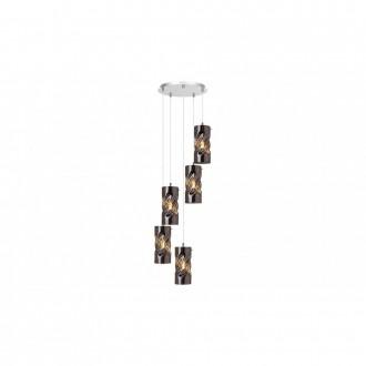 LAMPADORO 81034 | Gina_LD Lampadoro visilice svjetiljka 5x E27 krom