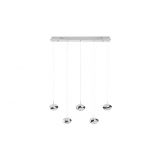 LAMPADORO 81073 | Angelo Lampadoro visilice svjetiljka 1x LED 3000lm 3300K krom, učinak kristala