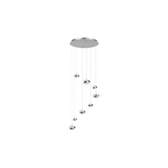 LAMPADORO 81074 | Angelo Lampadoro visilice svjetiljka 1x LED 3900lm 3300K krom, učinak kristala