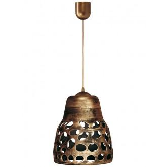 LAMPEX 002/1 ZLO | Wiszaca Lampex visilice svjetiljka 1x E27 antik zlato