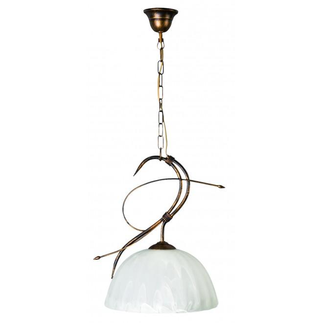 LAMPEX 004/1 C+M | Wiszaca Lampex visilice svjetiljka 1x E27 patinasto, blistavo bijelo