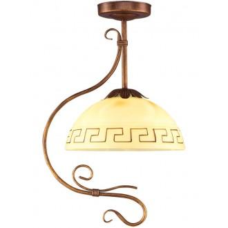 LAMPEX 008/1 B+M | Greka Lampex visilice svjetiljka 1x E27 braon antik, bež