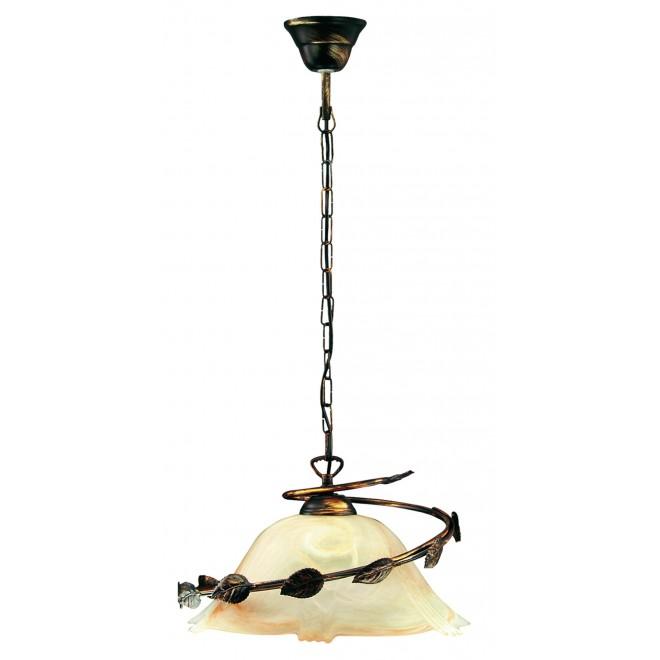 LAMPEX 010/1 C+M | Lampex-Pendant Lampex visilice svjetiljka 1x E27 patinasto, bež