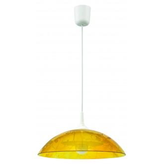 LAMPEX 012/A | Lampex-Pendant Lampex visilice svjetiljka 1x E27 bijelo, žuto