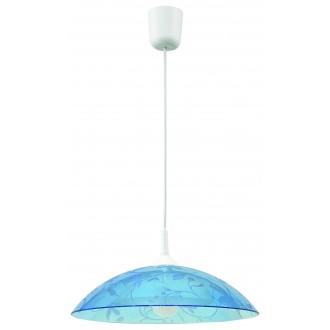 LAMPEX 012/B | Lampex-Pendant Lampex visilice svjetiljka 1x E27 bijelo, plavo