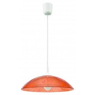 LAMPEX 012/C | Lampex-Pendant Lampex visilice svjetiljka 1x E27 bijelo, narančasto