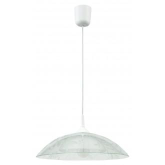 LAMPEX 012/D | Lampex-Pendant Lampex visilice svjetiljka 1x E27 bijelo, prozirno