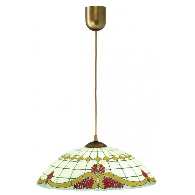 LAMPEX 013/C | Lampex-Pendant Lampex visilice svjetiljka 1x E27 patinasto, krem, crveno
