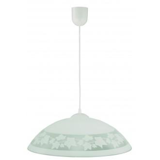 LAMPEX 013/D | Lampex-Pendant Lampex visilice svjetiljka 1x E27 bijelo, sivo