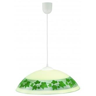 LAMPEX 013/E | Lampex-Pendant Lampex visilice svjetiljka 1x E27 bijelo, krem, zeleno