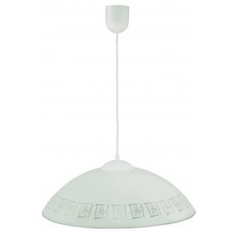 LAMPEX 013/G | Lampex-Pendant Lampex visilice svjetiljka 1x E27 bijelo, sivo