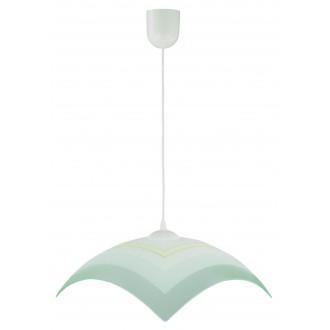 LAMPEX 013/I | Lampex-Pendant Lampex visilice svjetiljka 1x E27 bijelo, sivo