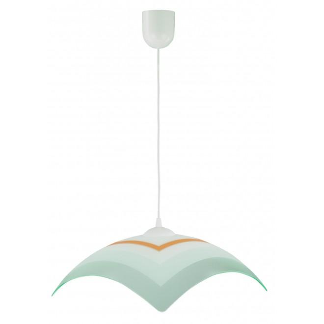 LAMPEX 013/J | Lampex-Pendant Lampex visilice svjetiljka 1x E27 bijelo, sivo, narančasto
