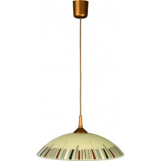 LAMPEX 013/K | Lampex-Pendant Lampex visilice svjetiljka 1x E27 patinasto, krem, višebojno
