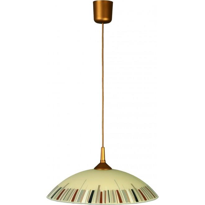LAMPEX 013/K   Lampex-Pendant Lampex visilice svjetiljka 1x E27 patinasto, krem, višebojno