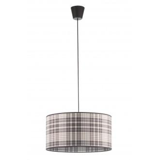 LAMPEX 019/A | Cyntia-LA Lampex visilice svjetiljka 1x E27 crno, bijelo, smeđe