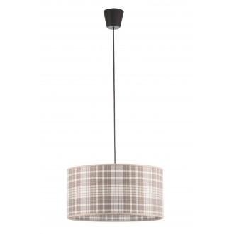 LAMPEX 019/B | Cyntia-LA Lampex visilice svjetiljka 1x E27 crno, bijelo, smeđe