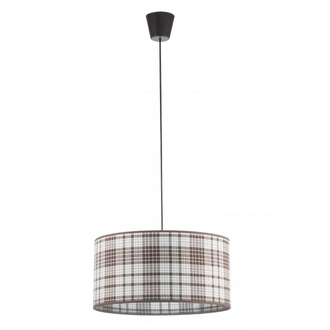 LAMPEX 019/C | Cyntia-LA Lampex visilice svjetiljka 1x E27 crno, bijelo, smeđe