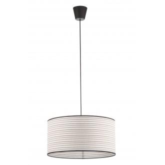 LAMPEX 019/D | Cyntia-LA Lampex visilice svjetiljka 1x E27 crno, bijelo, smeđe