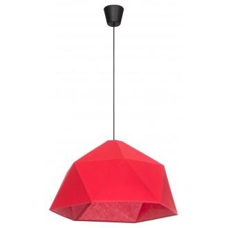 LAMPEX 024/1 | Rasia Lampex visilice svjetiljka 1x E27 crno, crveno
