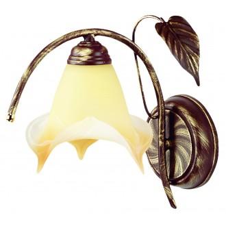 LAMPEX 025/K B+Z | Roslina Lampex zidna svjetiljka 1x E27 braon antik, jantar