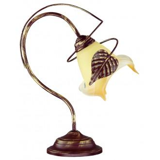 LAMPEX 025/LM B+Z | Roslina Lampex stolna svjetiljka 35cm 1x E27 braon antik, jantar