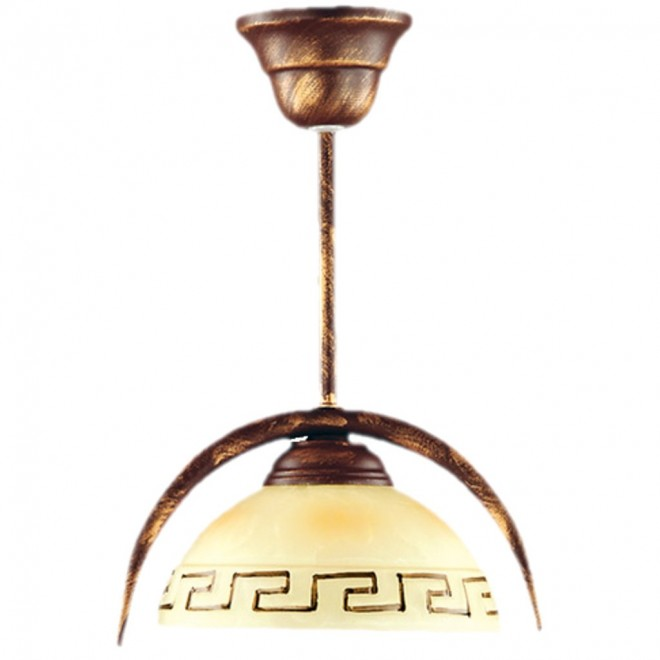 LAMPEX 030/1 B+M   Greka Lampex visilice svjetiljka 1x E27 braon antik, bež