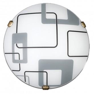 LAMPEX 034/P1 ECO | Quadro-LA Lampex stropne svjetiljke svjetiljka 1x E27 patinasto, bijelo, sivo