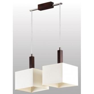 LAMPEX 042/2 WEN | Karmen Lampex visilice svjetiljka 2x E14 venga, bijelo