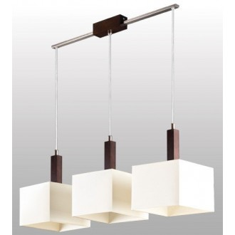 LAMPEX 042/3 WEN | Karmen Lampex visilice svjetiljka 3x E14 venga, bijelo