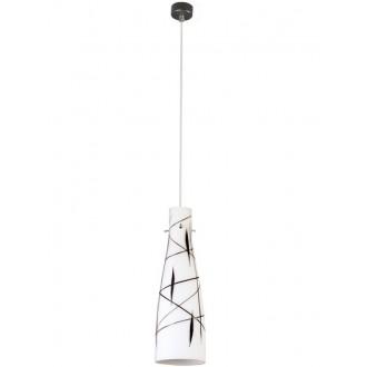 LAMPEX 043/1 DEK | Tubo-LA Lampex visilice svjetiljka 1x E27 bijelo, crno