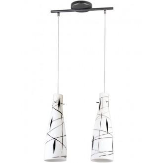 LAMPEX 043/2 DEK | Tubo-LA Lampex visilice svjetiljka 2x E27 bijelo, crno