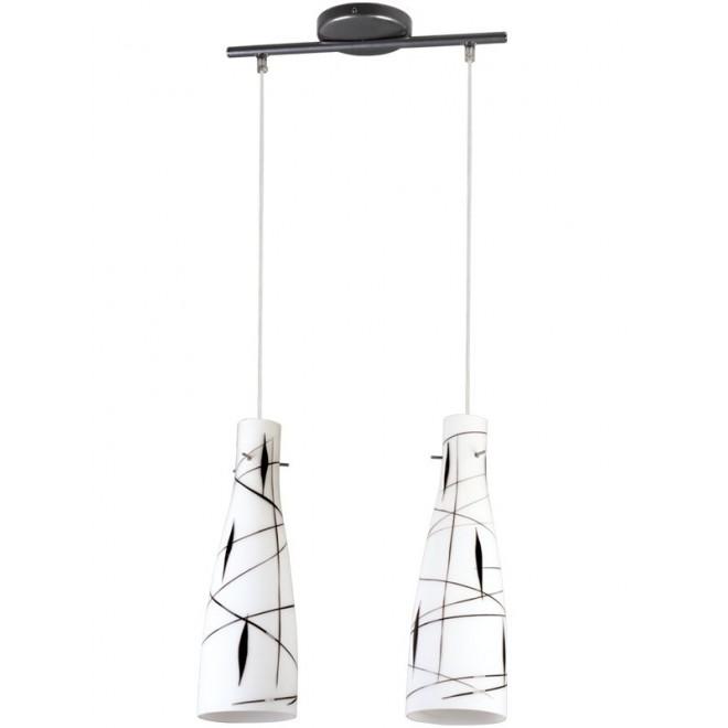 LAMPEX 043/2 DEK   Tubo-LA Lampex visilice svjetiljka 2x E27 bijelo, crno