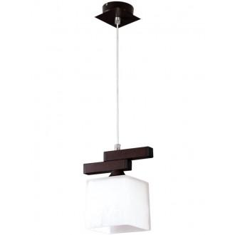 LAMPEX 048/1 WEN | Cubo-LA Lampex visilice svjetiljka 1x E27 venga, krom, bijelo