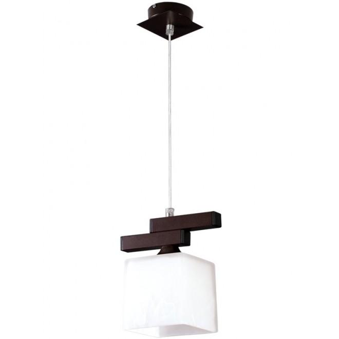 LAMPEX 048/1 WEN   Cubo-LA Lampex visilice svjetiljka 1x E27 venga, krom, bijelo