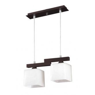 LAMPEX 048/2 WEN | Cubo-LA Lampex visilice svjetiljka 2x E27 venga, krom, bijelo