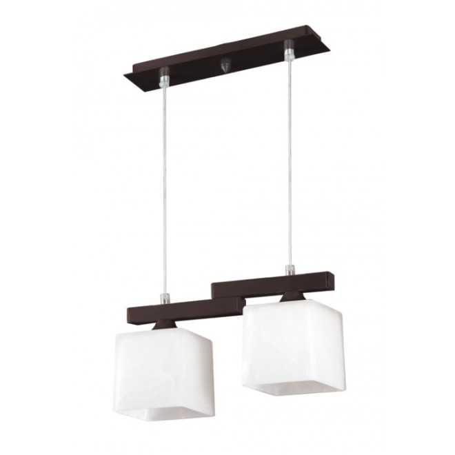 LAMPEX 048/2 WEN   Cubo-LA Lampex visilice svjetiljka 2x E27 venga, krom, bijelo