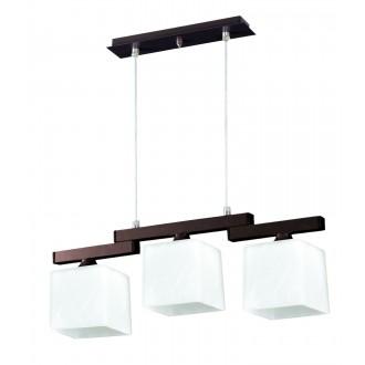 LAMPEX 048/3 WEN | Cubo-LA Lampex visilice svjetiljka 3x E27 venga, krom, bijelo